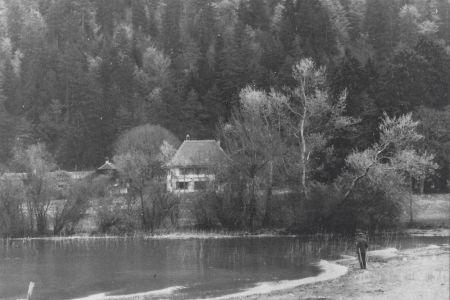 9 - Pension MANOR FARM von Süden, um 1940 | Camping MANOR FARM | Unterseen - Interlaken