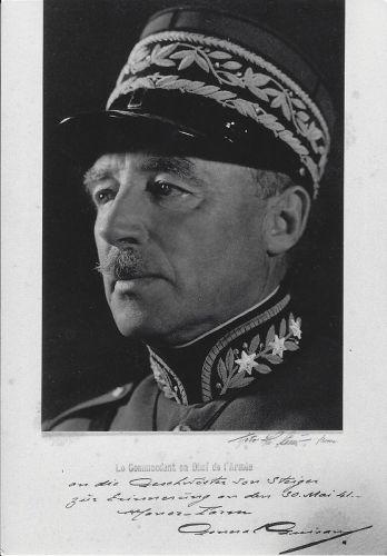 13 - General Guisan (mit Widmung an die Geschwister von Steiger), 1941 | Camping MANOR FARM | Unterseen - Interlaken
