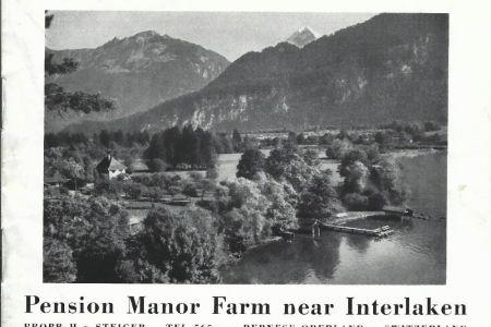 11 - Prospekt der Pension MANOR FARM, um 1935 | Camping MANOR FARM | Unterseen - Interlaken